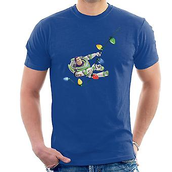 Disney Toy Story Buzz Lightyear Weihnachten Licht Swing Männer's T-Shirt