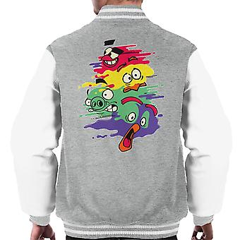 Angry Birds Personaje Splash Hombres's Chaqueta Varsity