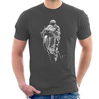 Motorsport Bilder Valentino Rossi Wheelie Män & apos; s T-shirt