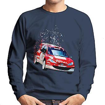 Motorsport Bilder Peugeot 206 WRC Fade Men's Sweatshirt