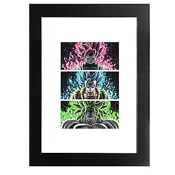 Trois Guerreros Dragon Ball Z Framed Print
