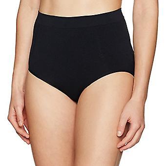 Merk - Arabella Women's Seamless Brief Shapewear with Tummy Control, Black, Medium