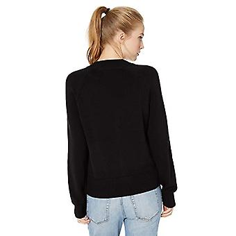 Marca - Daily Ritual Women's 100% Cotton Mock-Neck Pullover Sweater, Preto, Pequeno