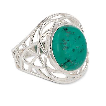 ADEN 925 Sterling Silver Turquoise Ring (id 3667)