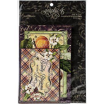 Graphic 45 Fruit & Flora Ephemera & Journaling Cards