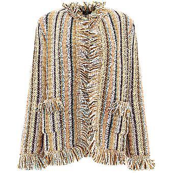 Etro 1941291388000 Women's Multicolor Wool Cardigan