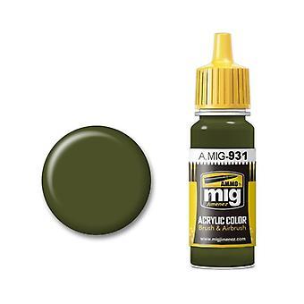 Ammo by Mig Acrylic Paint - A.MIG-0931 Russian Dark Base (17ml)