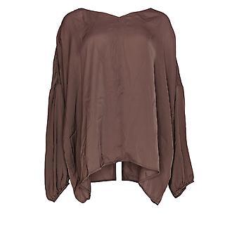 Du Jour Women's Plus Top V-Neck Drop Shoulder Blouse Pink A374142