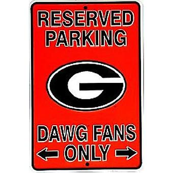 Georgia Bulldogs NCAA Fans Only Reserved Parking Sign