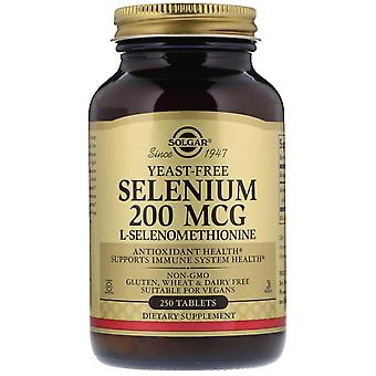 Solgar, Selenium, Yeast-Free, 200 mcg, 250 Tablets
