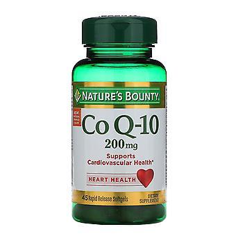 Natur's Bounty, Co Q-10, 200 mg, 45 Rapid Release Softgels