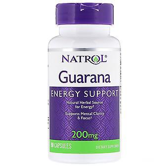 Natrol, Guarana, 200 mg, 90 Capsules