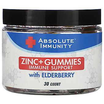 Nutrizione Assoluta, Immunità, Zinco - Gummies con Elderberry, 30 Conte
