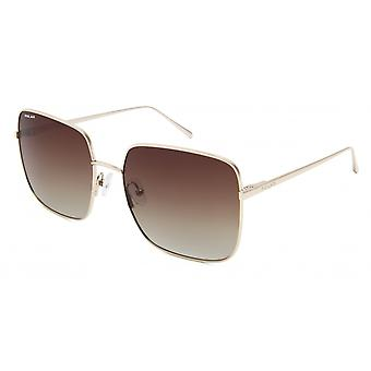 Sunglasses Women's Bloom Polarized Gold with Brown Lens (pblo0102)