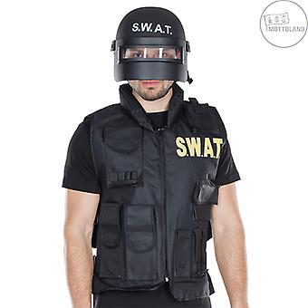 S.W.A.T. Hjelm Voksen Hjelm Visir Black Fighter beskyttende hjelm
