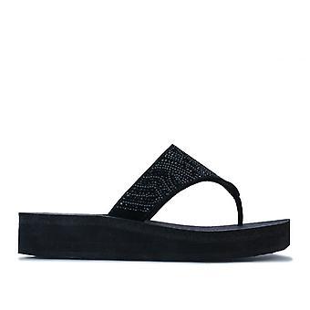 Women's Skechers Vinyasa Stone Candy Sandals in Black