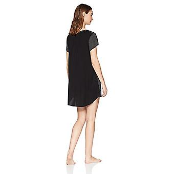 Marque - Mae Women's Sleepwear Scoop Neck Nightgown,Un inégale Spots,Large