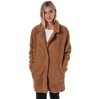Women's Only Aurelia Sherpa Coat in Brown