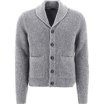 Tom Ford Bvg51tfk154k05 Men's Grey Cashmere Cardigan