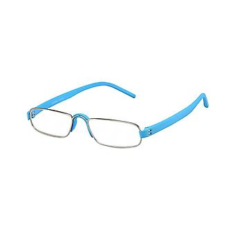 Reading glasses Unisex Le-0163G notary light blue thickness +1,00
