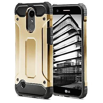 Shell for LG K10 (2017) Gold Armor Protection Case Hard