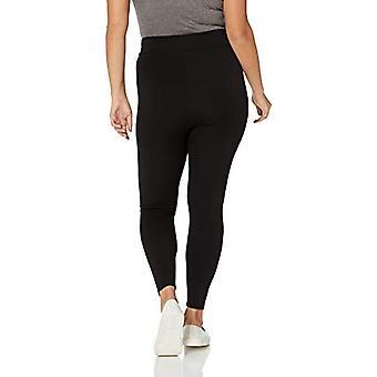 Brand - Daily Ritual Women's Plus Size Ponte Knit Legging, Black, 6X Regular