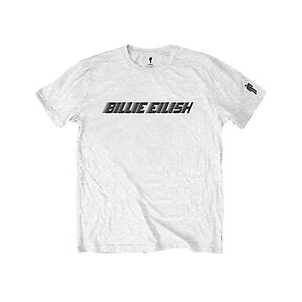 Billie Eilish Kids T Shirt Black Racer Logo new Official White (Ages 5-14 yrs)