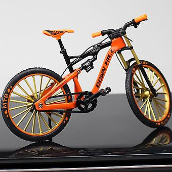 New Mini 1:10 Alloy Model Bicycle Diecast Metal Finger Mountain Bike Racing Simulation Adult Toys For Children