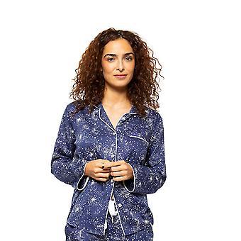 Cyberjammies Stella 4613 Kvinnor's Navy Mix Himmelska Tryck Pyjama Topp
