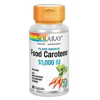 Solaray Food Carotin, 10.000 I.E., 30 Kapseln