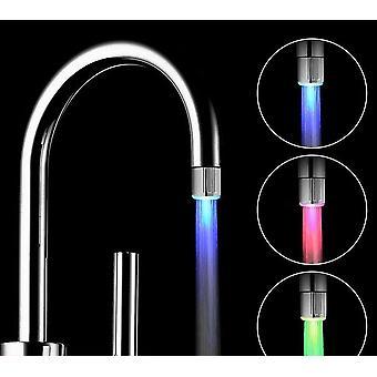 Changement de lueur conduit robinet d'eau Robinet de douche légère robinet avec capteur de pression