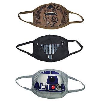 Star Wars Charakter Kostüm 3-Pack von Kindern Gesichtsmasken