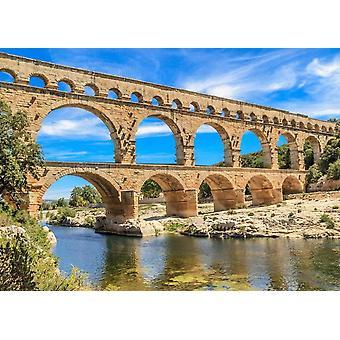 Wallpaper muurschildering Pont du Gard aquaduct