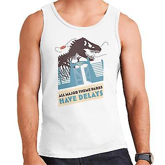 Jurassic Park T Rex All Major Theme Parks Have Delays Men's Vest