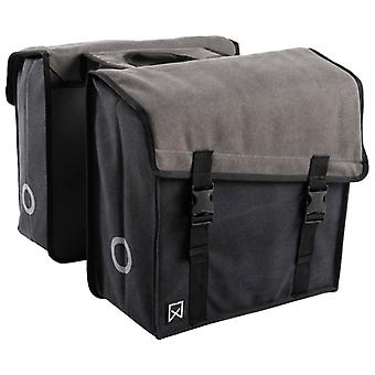 Willex Double Bicycle Bag 101 Canvas 30 L Grey and Black