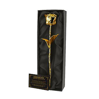 Gold Plated Eternity Rose in Gift Box