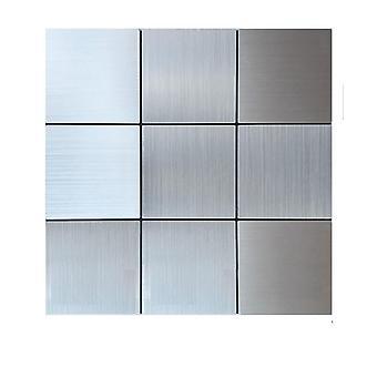 Autoadhesivo, mosaico de metal 3d, pared atítulas fondo de pantalla