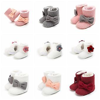Söpö syksy talvi pikkulapset kengät / keula solmu vauvan saappaat. Rennot lenkkarit liukumaton