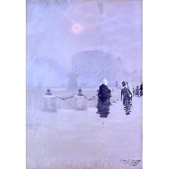 Туманные закат Плакат Печать