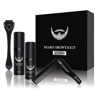 4 Pcs/set Men Beard/hair Growth Enhancer Thicker Oil, Conditioner Beard Grow