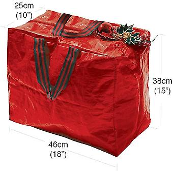 Christmas Decorations Storage Bag Polyethylene Green