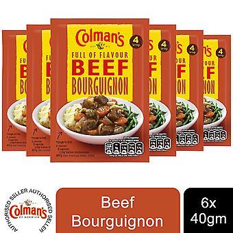 6 Pack Colman's Recipe Mix Beef Bourguignon, 39g