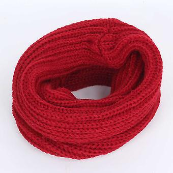 Children's Winter Knit Beanie Ring Scarf Set,,, Fleece, Thick Lining Plus