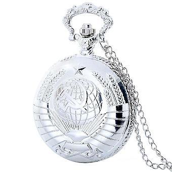 Vintage Pocket Watch Ussr Soviet Badges Sickle Bronze Fob Watch/women