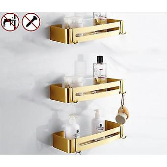 Aluminum Shelf For Bathroom Accessories , Cosmetic Storage, Kitchen Use