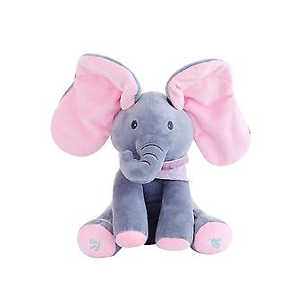 Plush Elephant Hide And Seek Toys For Kid,educational Toys
