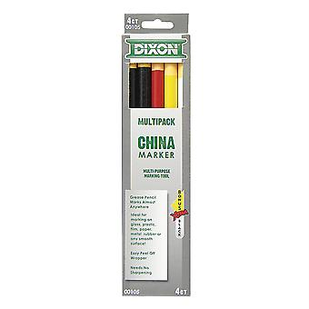 Dixon China Markers, Assorted 5-Pack