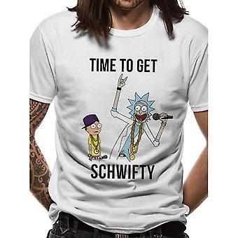 Rick e Morty Adulti Unisex Adulti Tempo di Ottenere Schwifty T-Shirt