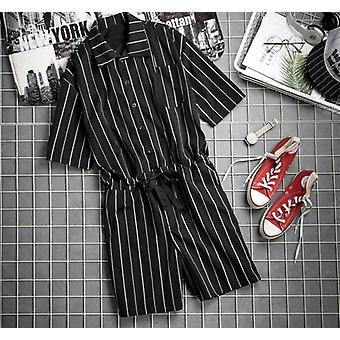 Striped Jumpsuits, Baggy Summer Casual Pants, Male Playsuit, Sweatpants