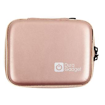 Duragadget rose gold eva case with soft lining - compatible with canon zoemini portable photo printe